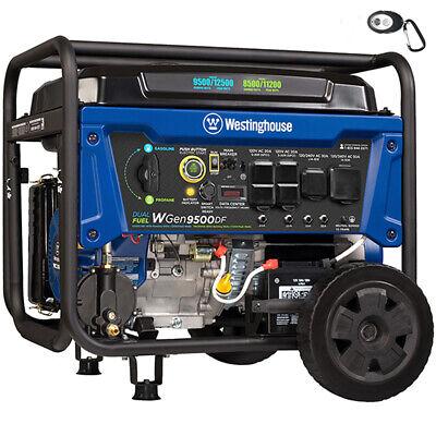 Westinghouse Wgen9500 - 9500 Watt Electric Start Dual Fuel Portable Generator...