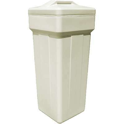 """Complete square brine tank for water softener 15x36"""" with sa"""