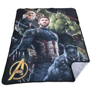 Marvel Avengers Super Plush Throw Blanket for Kids - 48 x 60 Inch [Infinity War]
