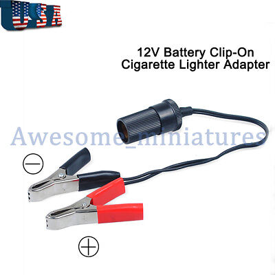Professional Car Battery Clip-on Lighter inverter Socket Adaptor Cables 10FT