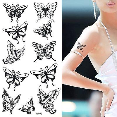 Impermeable Para Mujer Mariposa Tatuajes Temporales Fiesta Pegatina HM092