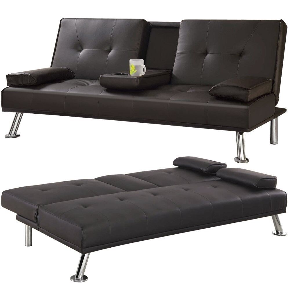 3 Seater Sofa Bed With Fold Down Drinks Table (Retail £250)