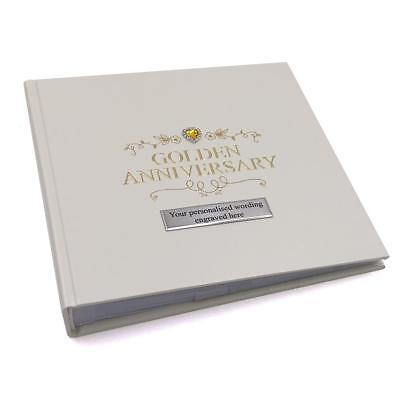 Personalised 50th Golden Wedding Anniversary Photo Album 50 Pictures 280181-P (50th Anniversary Photo Album)
