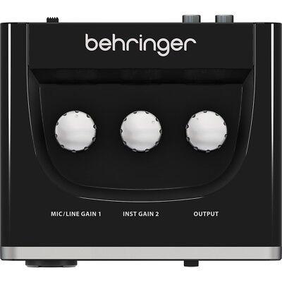 BEHRINGER U-PHORIA UM2 interfaccia scheda audio usb 2x2 + preamp microfonico NEW