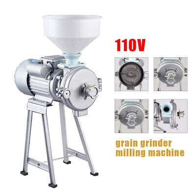 Wet Dry Electric Grinder Mill Corn Grain 2200w 110v Wheat Feedflour Cereals