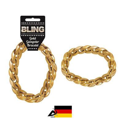 Goldenes Armband Gangster Rapper Hip Hop Kostümzubehör Schmuck - Hip Hop Kostüm