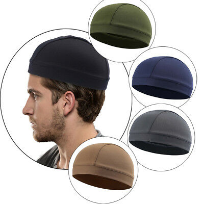 Men Woman Skull Cap Quick Dry Sports Sweat Beanie Hat Great Cycling Dome - Polyester Dome