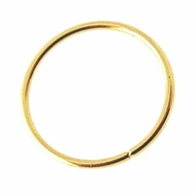 Nasen Ring 10k Gelbgold 8mm Kontinuierlich Spaltring Tragus 22g (0.6mm) Piercing (Nasen-ring Gold 22)
