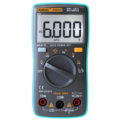 Aneng An8002 Digital True Rms 6000 Counts Multimeter Acdc Current