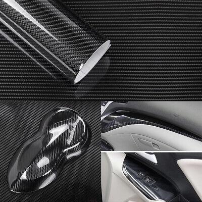 5D Selbstklebend Carbon Folie Auto KFZ Klebe Folie Glanz Matt Schwarz 152 x 50cm
