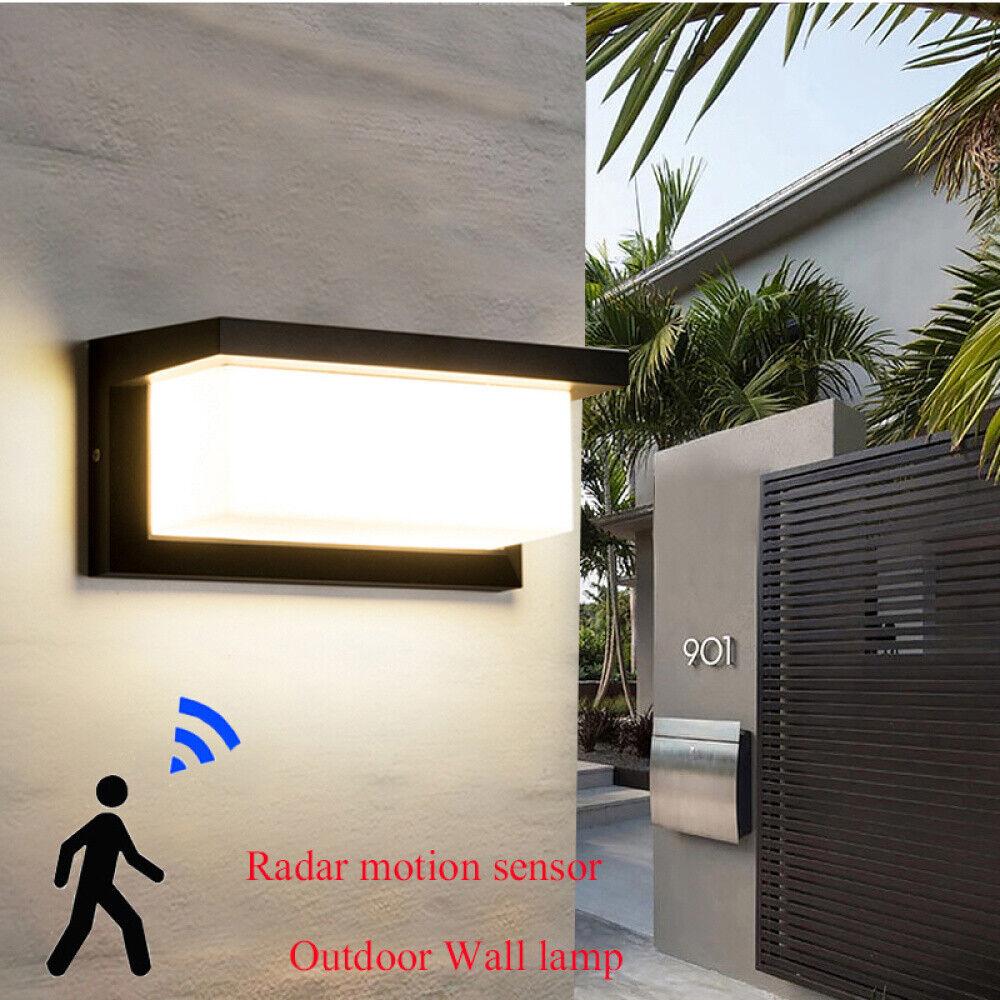Außenwandleuchte mit Sensor Bewegungsmelder LED Wandlampe Lampen Wandleuchten DE