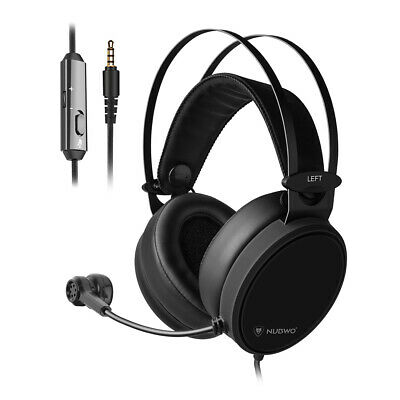 NUBWO N7 3.5mm Gaming Headset Deep Bass Headphones On Ear Earphone With Mic