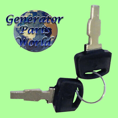 2 Ignition Switch Keys For Honda Eu3000is Eu3000is1 Inverter 2.8kw 3kw 6 Wire