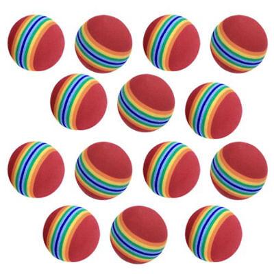 20pcs Foam Sponge Golf Training Soft Balls Elastic Indoor Practice Rainbow