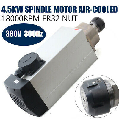 4.5kw Square Air Cooled Spindle Motor Er32 18000rpm Cnc Engraving Router Machine