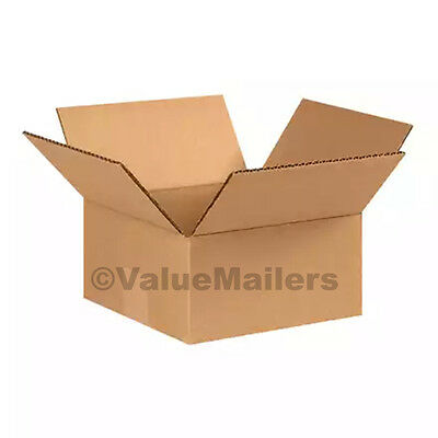 50 10x10x4 Cardboard Packing Mailing Moving Shipping Boxes Corrugated Cartons