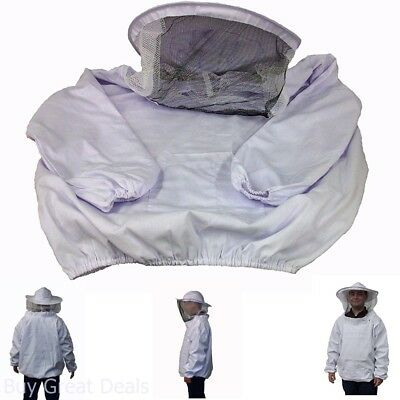 New Professional White Xl Extra Large Beekeeping Bee Keeping Suit Jacket