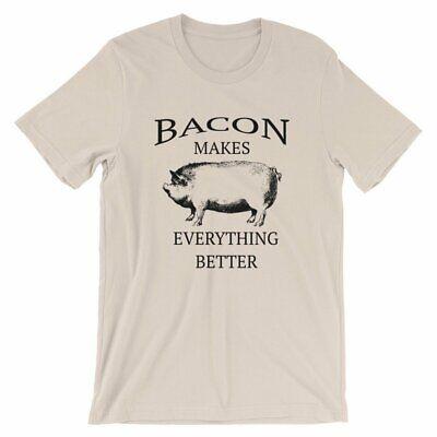 Bacon Makes Everything Better Funny T-Shirt for Pig Pork Lovers Farm Farmer