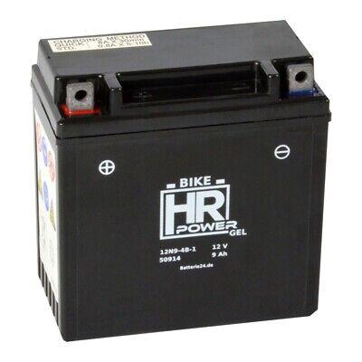 HR Bike Power 12V 9Ah GEL Motorradbatterie 12N9-4B-1 YB9-B CB9-B 50914 gebraucht kaufen  Böhnhusen