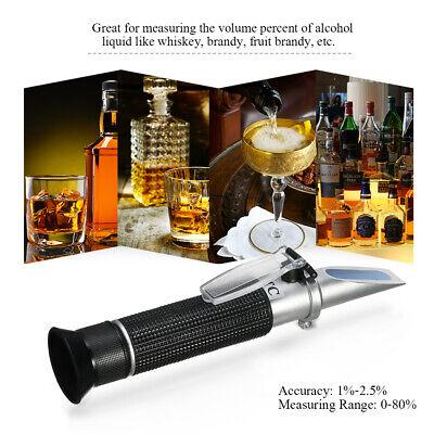 Refraktometer Wein Winzer Bier Alkohol Zucker Tester Messbereich Von 0-80% T7I2
