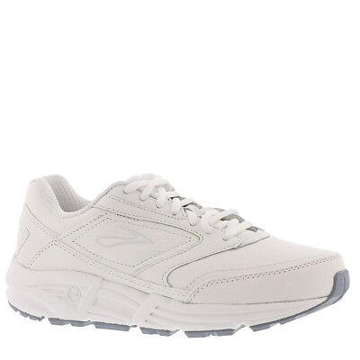 (Men's Brooks Addiction Walker Walking Shoes White Leather All Sizes NIB)