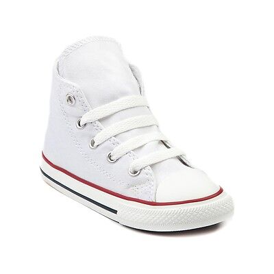 Infant Converse All Star (Converse All Star Hi Chucks Infant Toddler Optical White Canvas Shoe)