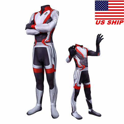US!Avengers 4: Endgame Superhero Adults/Kids Tight Quantum Armor Cosplay Costume
