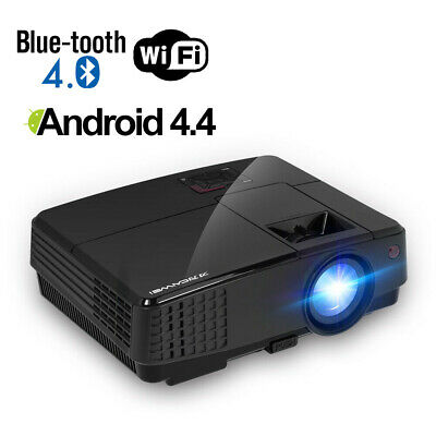 HD Smart Android Projector Full HD 1080P Blue-tooth Home Cinema Wifi HDMI USB UK