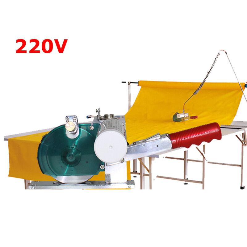 220V High Speed Fabric Cutter 7 ft Shuttle Rail Digital Counter Cutting Machine