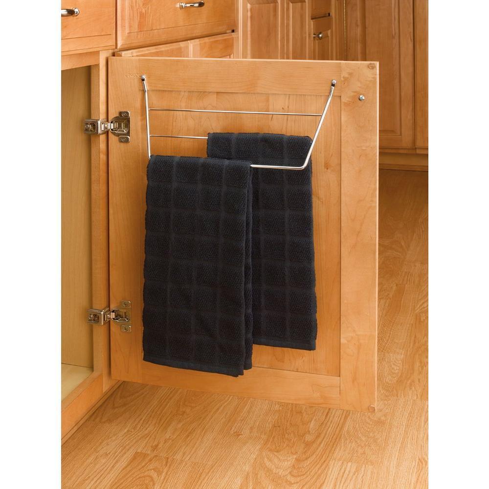 Details About Kitchen Storage Towel Holder Bar Under Sink In Cabinet Organizer Door Mount Rack