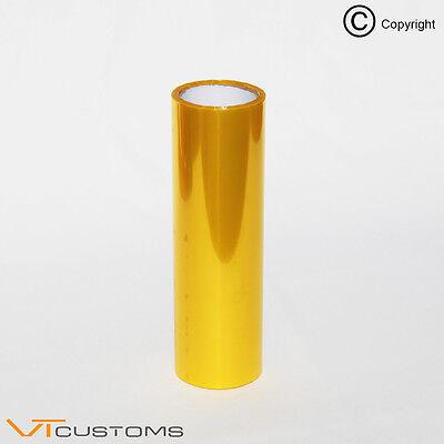 30 x 100cm Golden Yellow Headlight Tint Film Fog Tail Lights Tinting Car Wrap