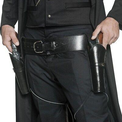 Authentischer Pistolen Holster Halfter Waffen Gürtel Cowboy Western Kostüm espre