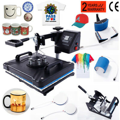 5 In 1 Digital Tenseness Press Machine Sublimation for T-Shirt Mug Plate Hat Printer
