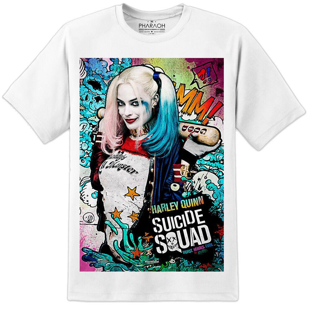 a6077fdbcddf Details about Harley Quinn Comic Suicide Squad Movie T Shirt DC Comics  Batman S-2XL SUB Joker
