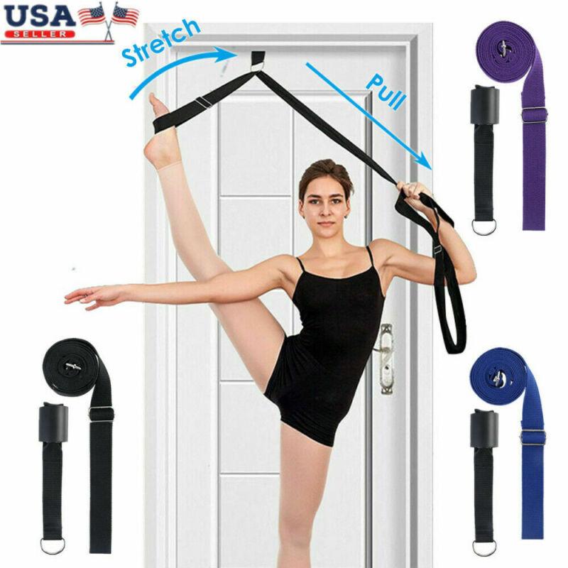 Leg Stretcher Strap Dance Yoga Gymnastic Belt Door Flexibility Stretch + Bag US