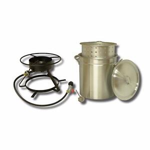 New, King Kooker 50 qt. Outdoor Boiling and Steaming Cooker Package (open box) *PickupOnly