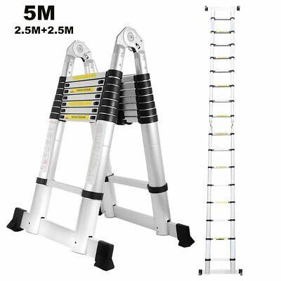 5M Stehleiter Teleskopleiter Klappleiter Ausziehleiter Tragegriff Anlegeleiter