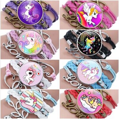 Infinity Love Unicorn Cute Girls Bracelet Multi Color New Free Ship Cartoon