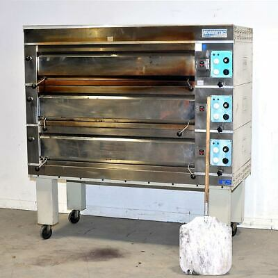 Adamatic 3-deck Commercial Oven Adam Equipment Aad-8-303 208v 3phase Electric
