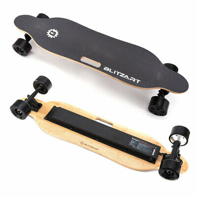 "BLITZART Tornado 38"" Electric Skateboard Longboard 3.5"" Hub-Motor 350W 17mph"