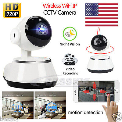 720P Wireless IP WIFI Camera Pan Tilt Home Security CCTV Network Night Vision US