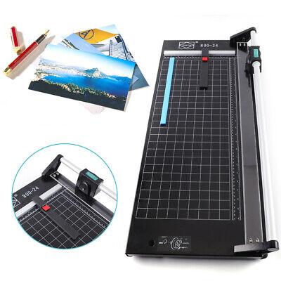 24 Manual Precision Rotary Paper Trimmer Sharp Film Photo Paper Cutter Machine