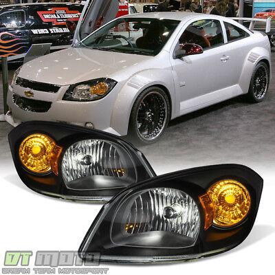 Black 2005 2010 Cobalt 2007 10 Pontiac G5 05 06 Pursuit Headlights LeftRight