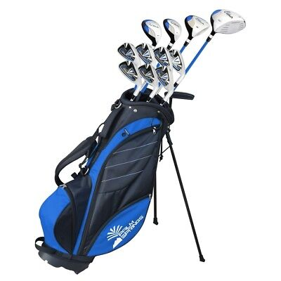 Graphite Stand Bags - Palm Springs Golf VISA V2 MEN TALL GRAPHITE & STEEL +1 Inch Club Set & Stand Bag