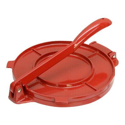 8'' Red Aluminum Tortilla Press Maker Tortilladora Light Weight Aluminum Aluminum Tortilla Press