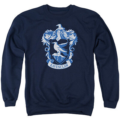 HARRY POTTER RAVENCLAW CREST Licensed Adult Pullover Crewneck Sweatshirt SM-3XL