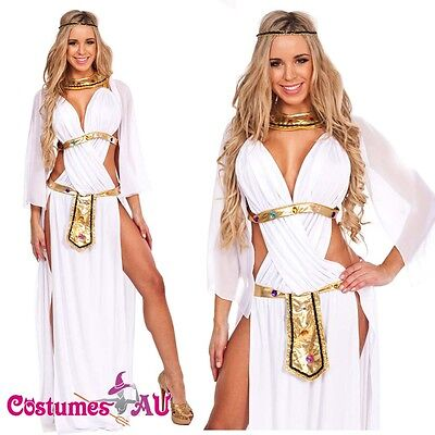 Cleopatra Goddess Roman Egyptian Ladies Halloween Fancy Dress Adult Costume