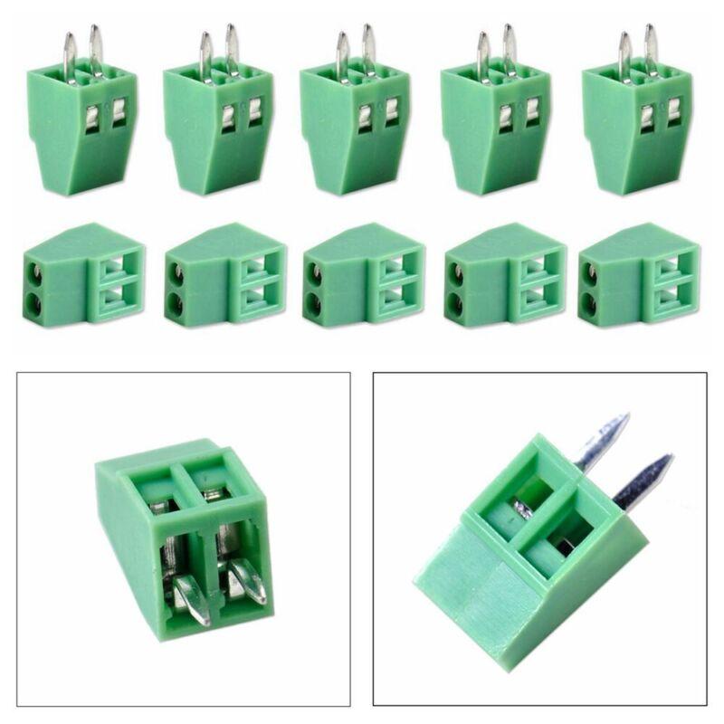 50Pcs Green 2 Pin 2 Way 2.54mm 0.1