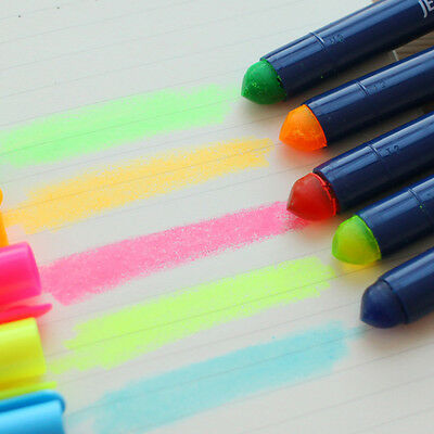 Gel Solid Highlighter Fluorescent Revolving Up Pen Office School Stationery Acc