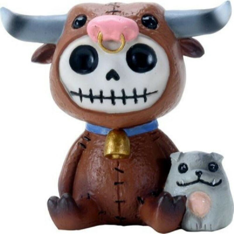 Furrybones Torro Skeleton in Cow Costume Figurine